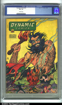 "Dynamic Comics #20 (Chesler, 1946). A scarce, esoteric book, typically sought after for its ""bare-breasted woman&qu..."