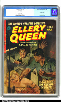 Ellery Queen #2 (Ziff-Davis, 1952). Wow! What an awesome cover! Bondage, cleavage and a red hot poker. It just doesn't g...