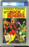 Golden Age (1938-1955):Science Fiction, Famous Funnies #209 (Eastern Color, 1953). The first of thelegendary Frank Frazetta covers leads off this stunning copy of ...