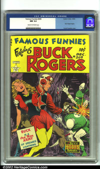 Famous Funnies #209 (Eastern Color, 1953). One of the most gripping run of covers produced during the '50s, Frank Frazet...