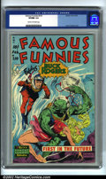 Golden Age (1938-1955):Science Fiction, Famous Funnies #210 (Eastern Color, 1954). The Frazetta run ofFamous Funnies covers have always been highly prized by c...