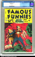 Golden Age (1938-1955):Science Fiction, Famous Funnies #211 (Eastern Color, 1954). A spectacular copy of this sci-fi favorite, this run of Famous Funnies is kno...