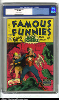 Golden Age (1938-1955):Science Fiction, Famous Funnies #211 (Eastern Color, 1954). These Frazetta FamousFunnies covers are mainstays of the hobby, eagerly soug...