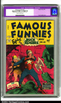 Golden Age (1938-1955):Science Fiction, Famous Funnies #211 (Eastern Color, 1954). A terrific looking bookfrom the Frank Frazetta run of Buck Rogers covers with ve...