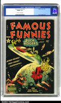 Golden Age (1938-1955):Science Fiction, Famous Funnies #212 (Eastern Color, 1954). A nice mid-grade exampleof a truly classic book. With the classic Frank Frazetta...