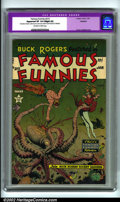 """Golden Age (1938-1955):Science Fiction, Famous Funnies #215 (Eastern Color, 1955). A very pretty copy witha stunning Frank Frazetta octopus cover. CGC notes, """"Rest..."""