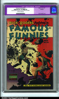 Golden Age (1938-1955):Science Fiction, Famous Funnies #216 (Eastern Color, 1955). A lovely copy with acool Frank Frazetta cover (the last in this run). CGC notes,...