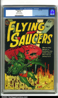 Golden Age (1938-1955):Science Fiction, Flying Saucers #1 (Avon, 1950). Classic Avon sci-fi comic with aclassic cover and an interior story by Wally Wood. Very goo...