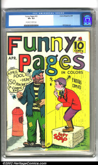 Funny Pages #10 (Centaur, 1937). This is a very scarce book, especially in this grade. Considering the stunning appearan...