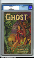 Golden Age (1938-1955):Horror, Ghost Comics #1 Bethlehem pedigree (Fiction House, 1951). Abeautiful book with a stunning cover that seems to leap right o...
