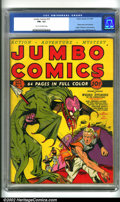 Golden Age (1938-1955):Science Fiction, Jumbo Comics #10 (Fiction House, 1939). Key issue of this importantFiction House title. Highlighted by a classic science fi...