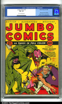 Jumbo Comics #10 (Fiction House, 1939). Key issue of this important Fiction House title. Highlighted by a classic scienc...