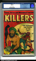 Golden Age (1938-1955):Crime, Killers #2 (Magazine Enterprises, 1948). Ogden Whitney offers another great cover full of violence in the last issue of this...