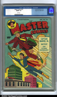 Master Comics Group Lot Mile High pedigree (Fawcett, 1951). An attractive lot of three Masters hailing from the famous M...