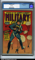 Golden Age (1938-1955):Superhero, Military Comics #24 Crowley pedigree (Comic Magazines, 1943). Blackhawk remains an underrated character from the Golden Age,...