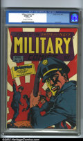Golden Age (1938-1955):War, Military Comics #28 (Comic Magazines, 1944). An interesting coverfeaturing the Blackhawk team walking off into what appears...
