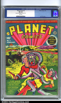 Planet Comics #2 (Fiction House, 1940). The most popular Fiction House title, Planet Comics have consistently shown grow...