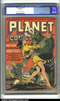 Golden Age (1938-1955):Science Fiction, Planet Comics #23 (Fiction House, 1943). As one of the moreprolific publishing houses of the Golden Age, Fiction House left...