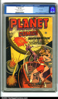 Golden Age (1938-1955):Science Fiction, Planet Comics #43 (Fiction House, 1946). Planet Comics is, perhaps,the most important science fiction title in comic bo...