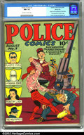 Golden Age (1938-1955):Superhero, Police Comics #1 Windy City pedigree (Quality, 1941). Police Comics #1 is an important book for a number of reasons. It ...