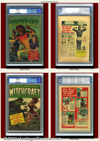 Pre-Code Horror Group Lot (Avon, 1952-53). Terrific lot of three pre-code horror classics, including the highly-prized W...