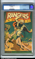 Golden Age (1938-1955):War, Rangers Comics #36 (Fiction House, 1947). By the late 1940s,Fiction House had cornered the market on the babe-n-baddie them...