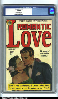 Romantic Love #1 (Avon, 1949). Scarce high-grade copy has an attractive painted cover by Everett Raymond Kinstler. Almos...