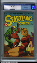 Golden Age (1938-1955):Science Fiction, Startling Comics #46 (Better Publications, 1947). The last of thethree Graham Ingels covers in the run, this one is classic...