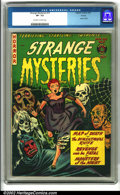 Golden Age (1938-1955):Horror, Strange Mysteries #10 Aurora pedigree (Farrell, 1953). This greatpre-code horror book shows intense color and beautiful pag...