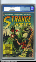Golden Age (1938-1955):Horror, Strange Worlds #3 (Avon, 1951). One of the most popular Avontitles, Strange Worlds are filled with a plethora of talent...