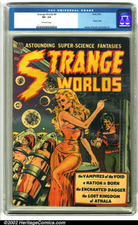 Strange Worlds #4 (Avon, 1951). With a high-demand Wally Wood cover featuring one of Wood's trademark fabulous babes, th...