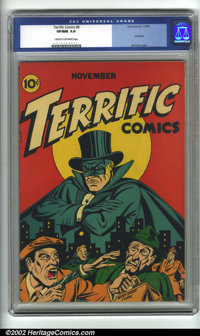 Terrific Comics #6 (Continental Magazines, 1944). This is an outstanding example of a very rare book. Continentals are t...