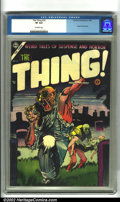 Golden Age (1938-1955):Horror, The Thing! #16 (Capitol, 1954). A classic horror title from the1950s, featuring gory interiors and disturbing covers. This ...