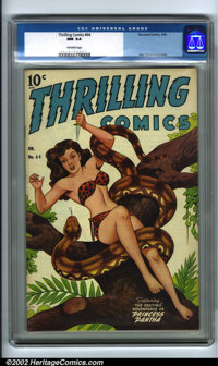 Thrilling Comics #64 (Better Publications, 1948). As Princess Pantha began to grace the later covers of Thrilling, Alex...