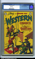 Golden Age (1938-1955):Western, Western Comics #28 Mile High pedigree (DC, 1951). Here is anotherexemplary copy from this popular run, featuring a great fl...