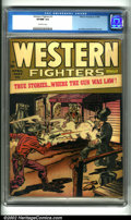 Golden Age (1938-1955):Western, Western Fighters #1 (Hillman, 1948). Rare first issue of this undervalued title, this book features a great Simon and Kirby ...