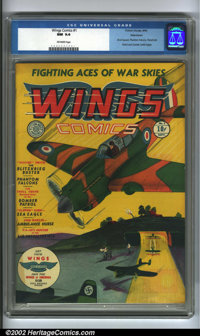 Wings Comics #1 Allentown pedigree (Fiction House, 1940). One of the most popular Fiction House titles, Wings are chock-...