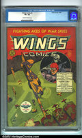 Golden Age (1938-1955):War, Wings Comics #2 (Fiction House, 1940). An issue that perfectly compliments the #1 for sale in this auction, featuring a grea...
