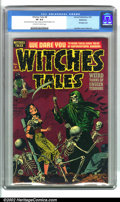 Golden Age (1938-1955):Horror, Witches Tales #8 Bethlehem pedigree (Harvey, 1952). This classicpre-code horror comic with a dynamic bondage cover shows a...