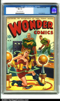 Golden Age (1938-1955):Adventure, Wonder Comics #20 (Better Publications, 1948). A terrific example of this high demand comic, highlighted by a beautiful Scho...