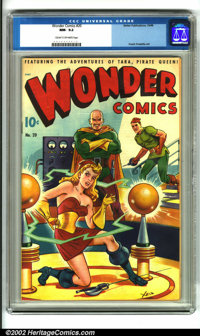 Wonder Comics #20 (Better Publications, 1948). A terrific example of this high demand comic, highlighted by a beautiful...