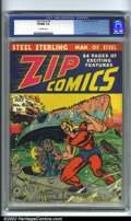 Golden Age (1938-1955):Superhero, Zip Comics #6 (MLJ, 1940). Starring Steel Sterling, Man of Steel, Zip fired off some very interesting covers in the earl...