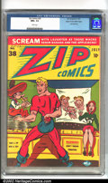 Golden Age (1938-1955):Superhero, Zip Comics #38 Mile High pedigree (MLJ, 1943). If you want a Mile High that embodies everything that is legendary about the...