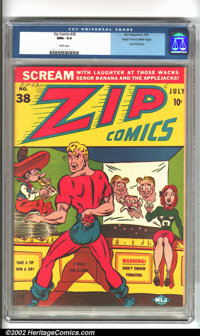 Zip Comics #38 Mile High pedigree (MLJ, 1943). If you want a Mile High that embodies everything that is legendary about...