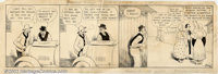 Frank King - Original Art for Gasoline Alley daily dated March 17, 1921 (Chicago Tribune, 1921). One of the foremost com...