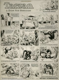 Original Comic Art:Comic Strip Art, Hal Foster - Original Tarzan Sunday dated 3-26-33 (United FeaturesSyndicate, 1933). Harold R. (Hal) Foster took over the jo...