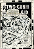 Original Comic Art:Covers, Dick Ayers - Original Cover Art for Two-Gun Kid #90 (Marvel,1967).An explosive image of the Two-Gun Kid battling a bad guy....
