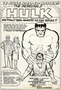 Original Comic Art:Splash Pages, Steve Ditko and George Bell - Original Art for Tales to Astonish#60 (Marvel, 1964). An historic piece of artwork by comic l...