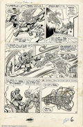 Original Comic Art:Panel Pages, Jack Kirby and Dick Ayers - Original Art for Fantastic Four Annual#1, page 6 (Marvel, 1963). A battle royale between two of...