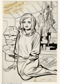 Original Comic Art:Splash Pages, Jack Kirby and Chic Stone - Original Art for Fantastic Four Annual#2, Alicia Pinup (Marvel, 1964). These wonderful pin-up p...